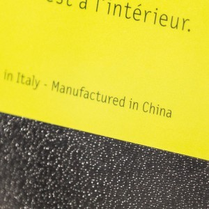 Product with manufactured in China origin marking