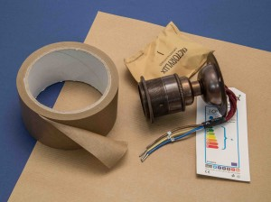 kraft paper and parcel tape for wrapping