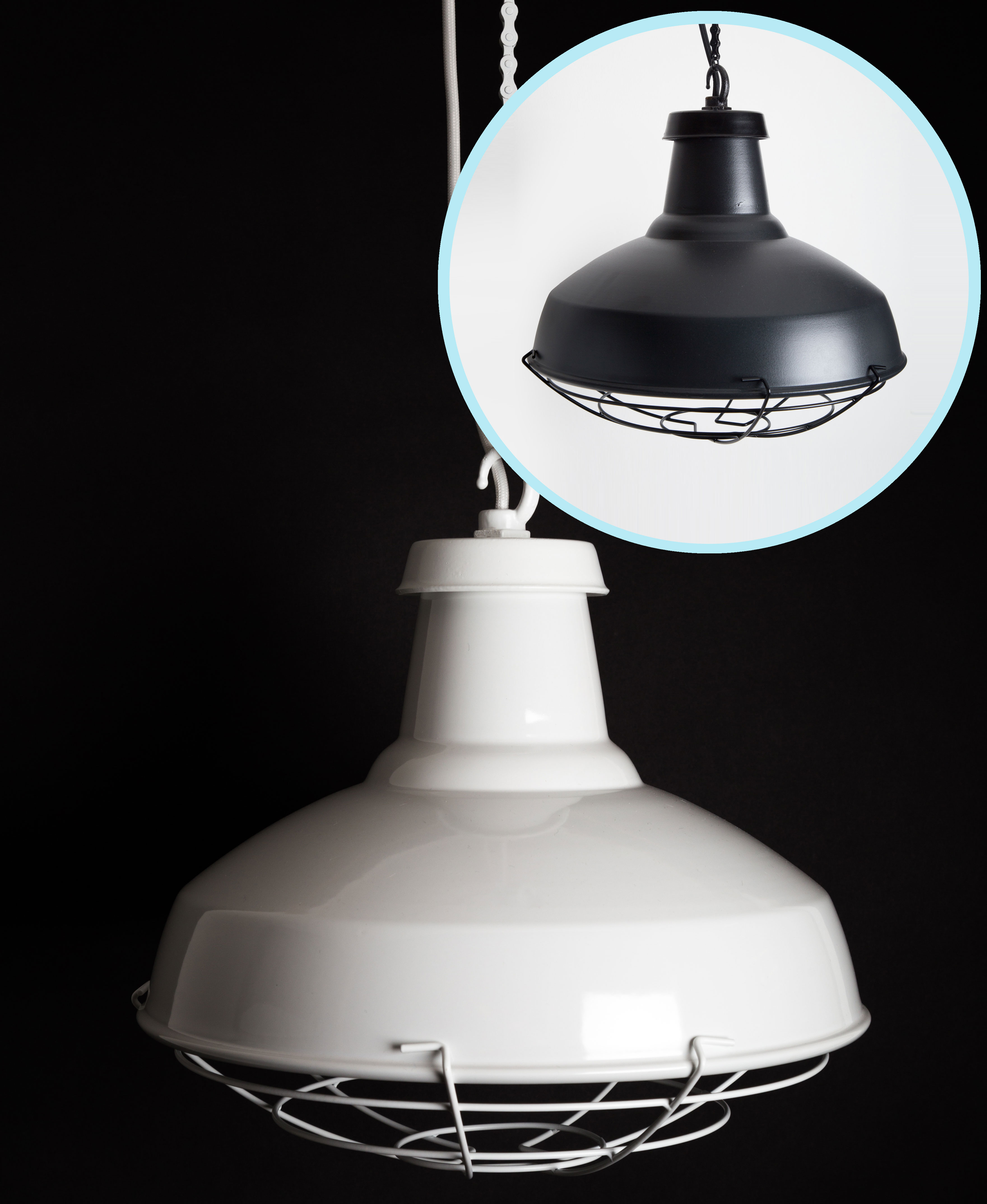 The Beryl Pendant Shown in both all White and all Black
