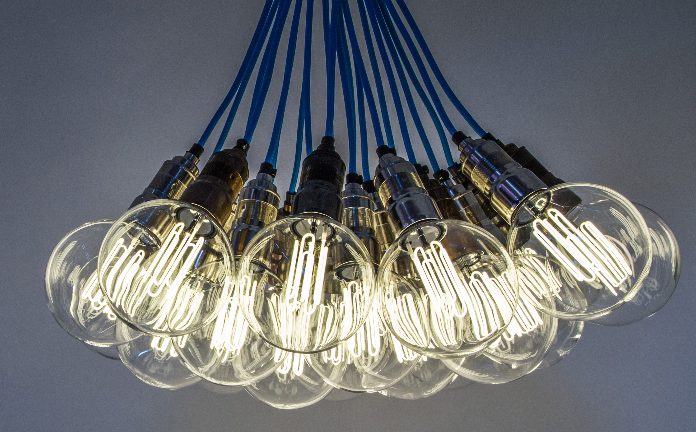 ceiling lights for kitchen - chandelier with eco-filament globes
