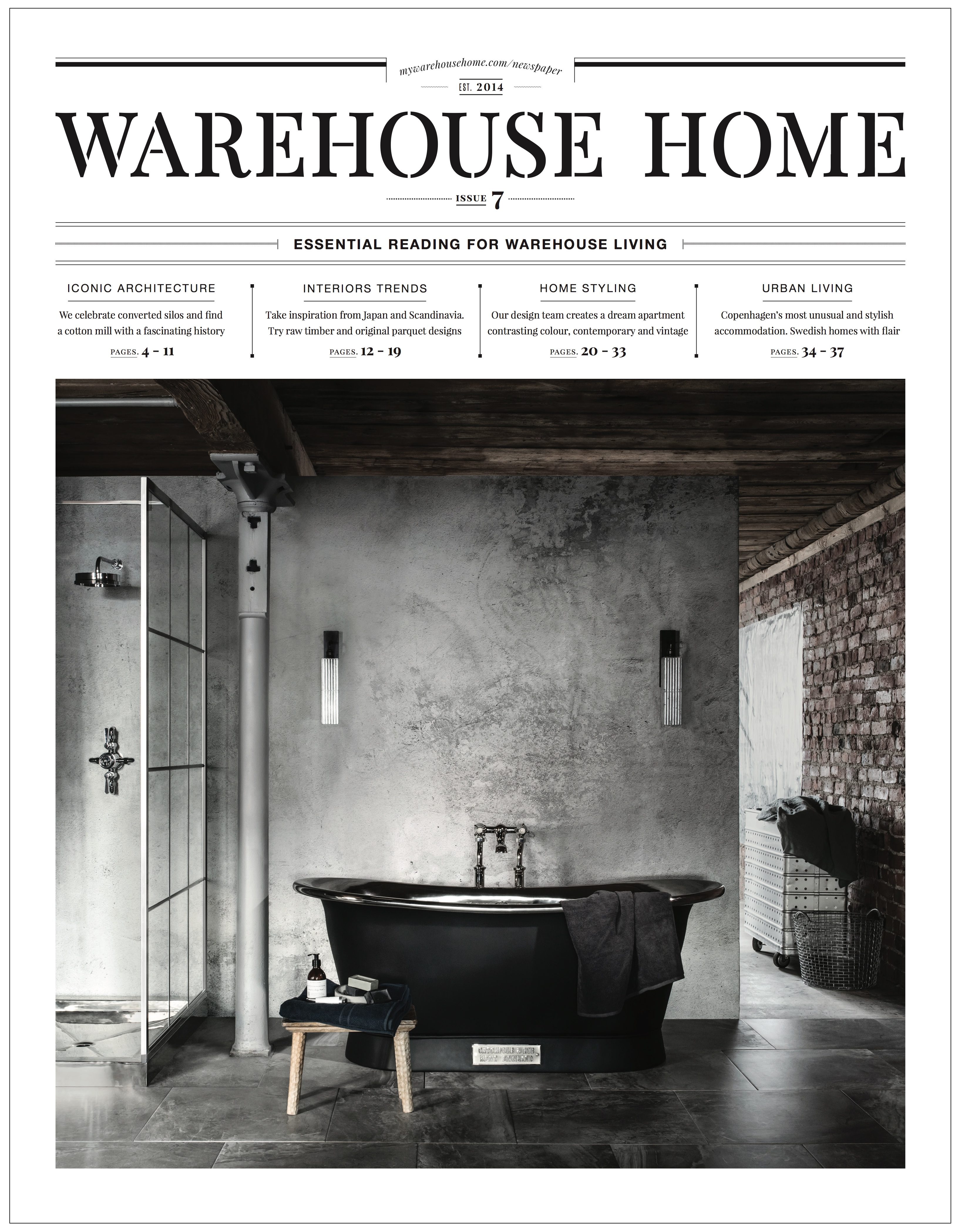 Warehouse Home Magazine Cover