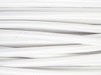 antique white fabric lighting cable