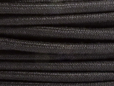 black linen fabric lighting cable