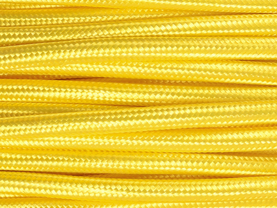 bright yellow fabric lighting cable