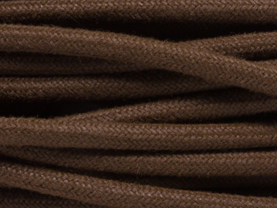 brown linen fabric lighting cable