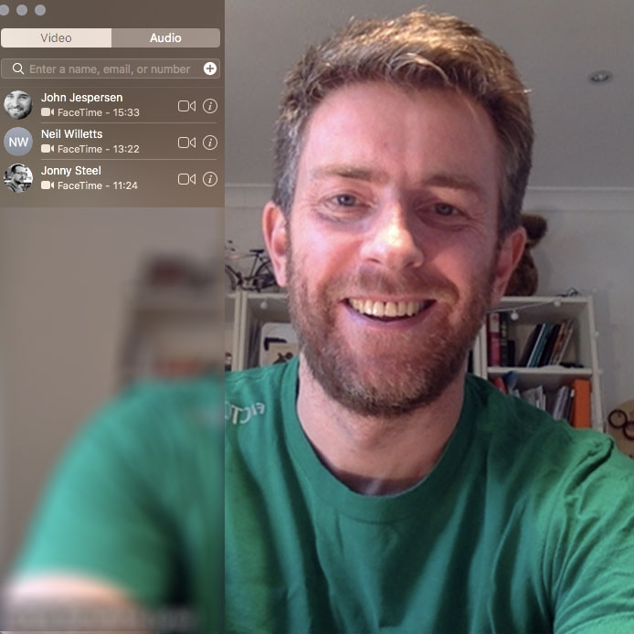 Face to face interaction is a must when you work from home. Photo: FaceTime