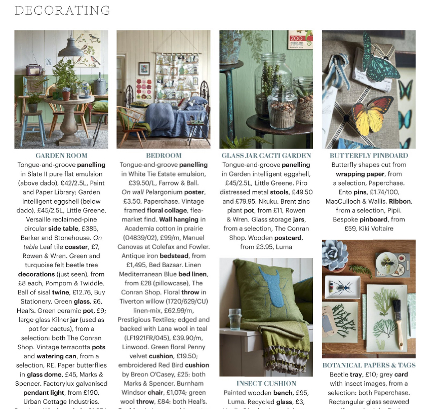 country living magazine - a study in nature suppliers