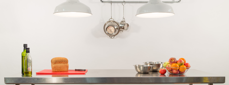 eco-led light bulbs in kitchen