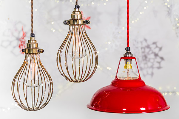 gold bulb cages and red Coolicon