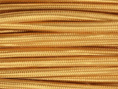 gold fabric lighting cable