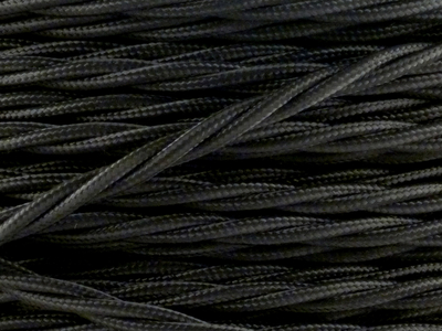 jet black braided cable