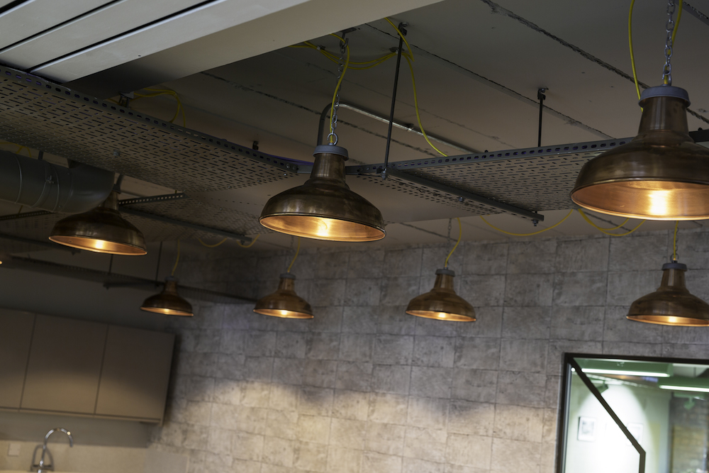 light fittings - copper shades