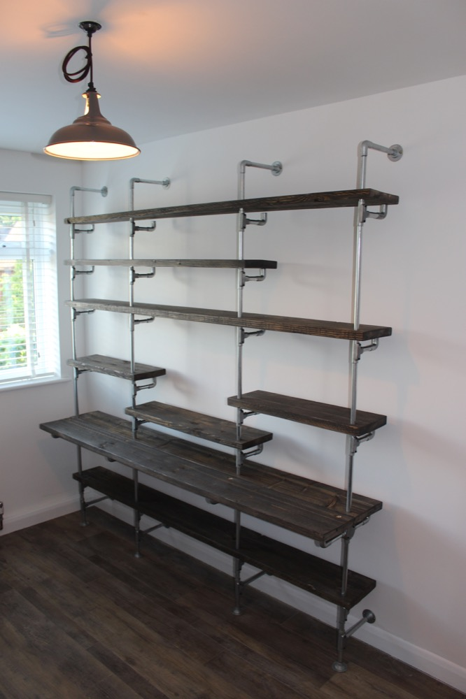 Metal Conduit Alternative Use 1 Shelving Unit