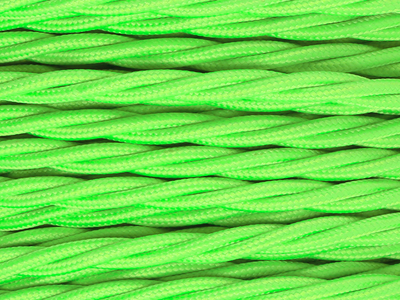 neon green braided lighting cable