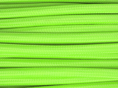 neon green fabric lighting cable
