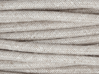 pale linen fabric lighting cable
