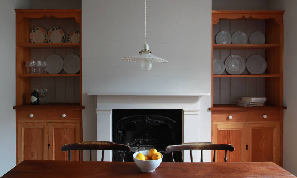Glass Shade above dining table