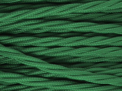 pea green braided lighting cable