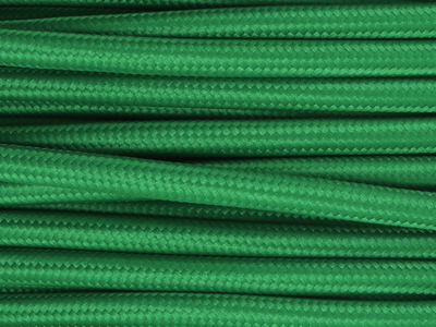 pea green fabric lighting cable