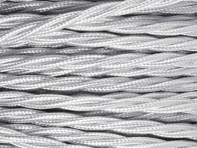 silver braided lighting cable