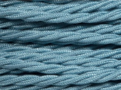teal braided lighting cable