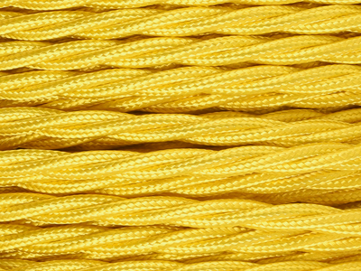 yellow braided lighting cable