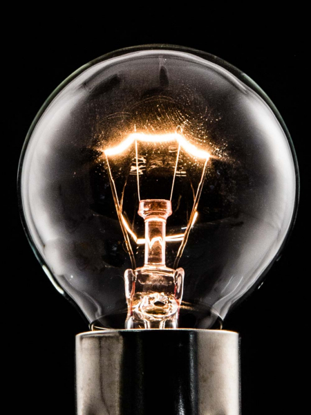 Clear Mini Globe Tungsten Filament Bulb | B15 Small Bayonet | 25W