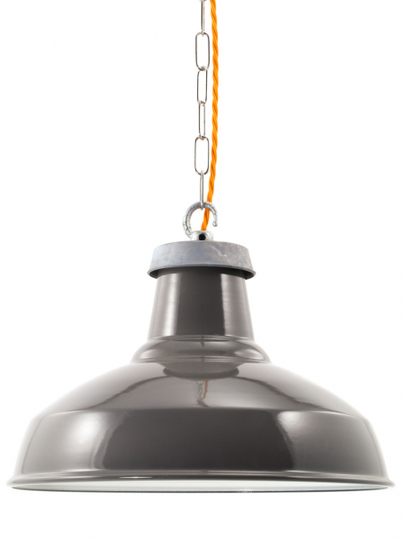 Grey Enamel Industrial Lamp Shade | 360mm