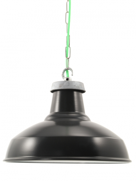 Matt Black Enamel Industrial Lamp Shade | 360mm