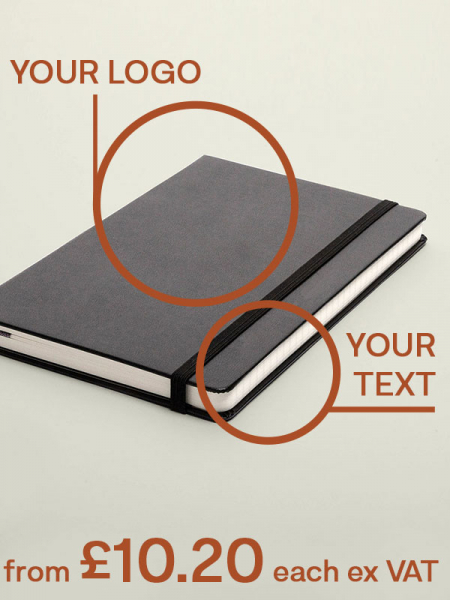 40% Off Prelogram notebooks with logo and personalised text