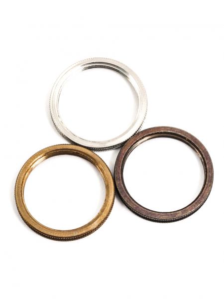 B22 Lamp Holder Shade Rings Brass, Silver & Bronze
