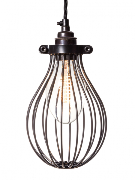 Large Balloon Light Bulb Cage Black