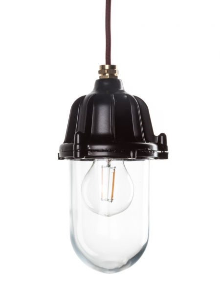 Black Industrial Lantern | Outdoor and Bathroom Light