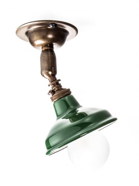 Maria Spotlight Brass Antique Light Miniature Green Shade