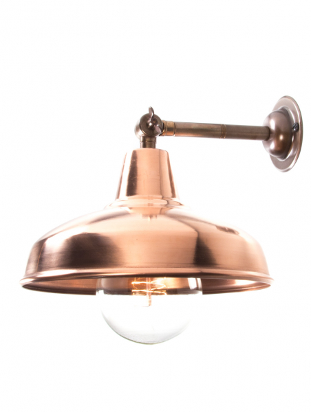 Brass Maria Banjo Wall Light Copper Shade