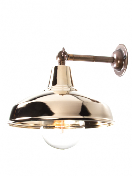 Maria Banjo Brass Wall Light Gold Shade