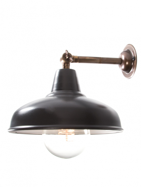 Maria Banjo Brass Wall Light Matt Black Shade
