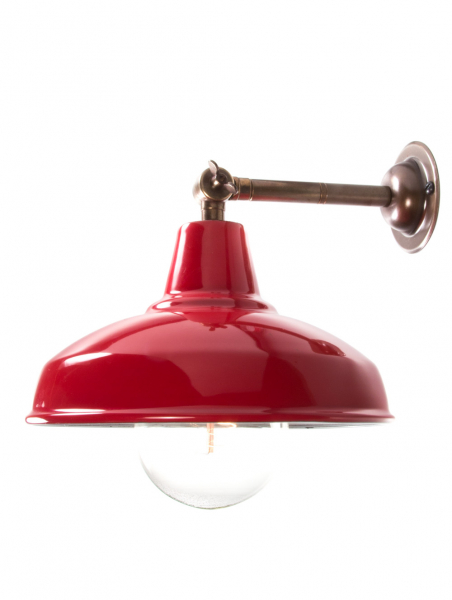 Maria Banjo Brass Wall Light Red Shade