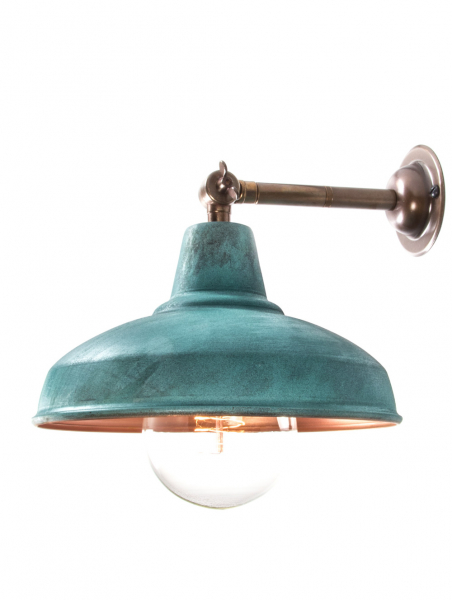 Maria Banjo Brass Wall Light Verdigris Shade