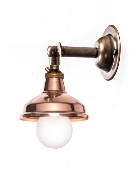 Brass Maria Sconce Copper Shade