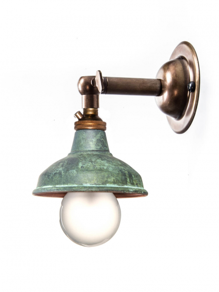 Brass Maria Sconce | Verdigris Copper Shade