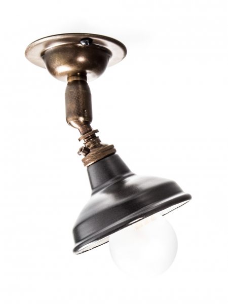Maria Spotlight Brass Antique Light Miniature Matt Black Shade