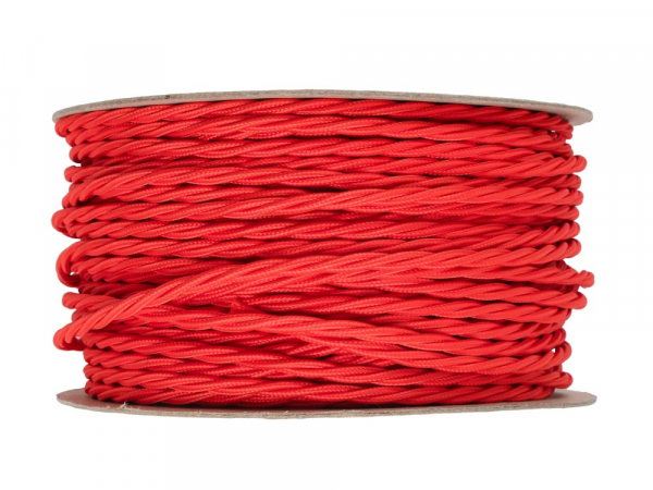 Bright Red Twisted Lighting Cable 3 Core