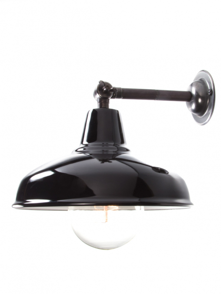 Maria Banjo Bronze Wall Light Gloss Black Shade