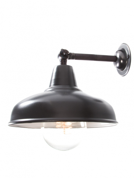 Bronze Maria Banjo Wall Light Matt Black Shade