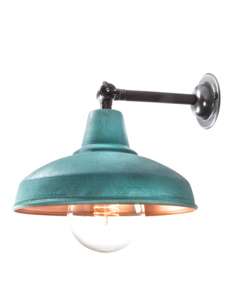 Maria Banjo Bronze Wall Light Verdigris Shade