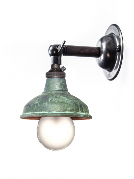 Bronze Maria Sconce Wall Light Verdigris Copper Shade