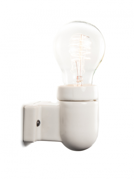 Ceramic Industrial Wall Light | Right-Angled