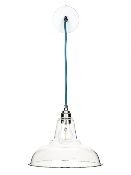 clear glass coolicon pendant + teal