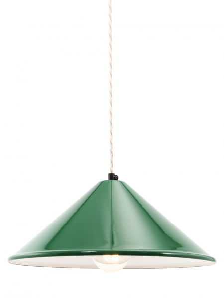 Coolie Green Enamel Lamp Shade